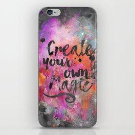 Create Magic handlettering colorful watercolor art iPhone Skin