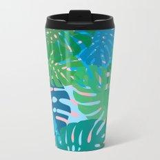 Colorful monstera leaves 3 Metal Travel Mug