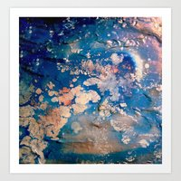 night sky Art Prints featuring Night Sky by Daphne Khoury