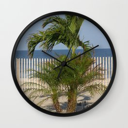 Jersey Palm Trees  Wall Clock