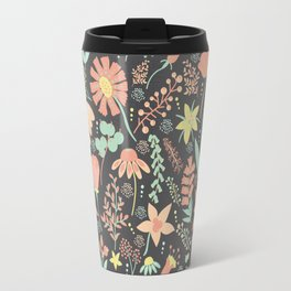 Peachy Keen Wildflowers Travel Mug
