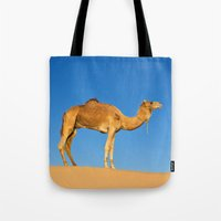 camel Tote Bags featuring Camel by Chantal Seigneurgens