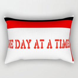 One Day at a Time (red brick) Rectangular Pillow