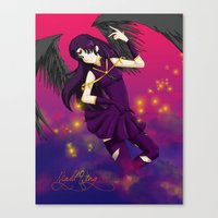 nightwing Canvas Prints featuring Nightwing by Christi-chan