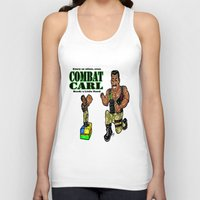 "pixar Tank Tops featuring It's Combat Carl, From The Pixar/ABC/Disney ""Toy Story of Terror""!  Action Figures DO come ALIVE! by beetoons"