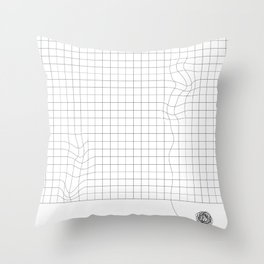 'Messy' grid print Throw Pillow