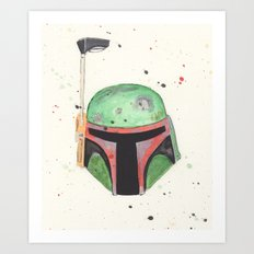Bobba Watercolor Art Print