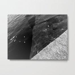 Submerged Blocks - B&W Metal Print