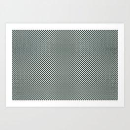 Horseradish Off White PPG1086-1 Polka Dots on Night Watch PPG1145-7 Art Print
