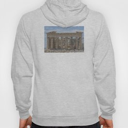 Modern and Ancient - Parthenon at Acropolis of Athens Under Construction Hoody
