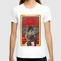 mucha T-shirts featuring Modern Mucha - Sarah Conner by Frank DeAngelo