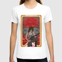 mucha T-shirts featuring Modern Mucha - Sarah Conner by Frank DeAngelo