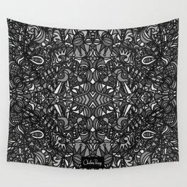 Piccadilly Circus Black & White Wall Tapestry