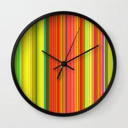 Rainbow Glowing Stripes Wall Clock