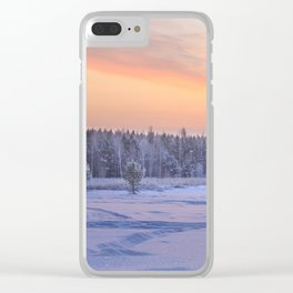 Frosty Evening Clear iPhone Case
