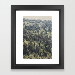 Mountain Trees Framed Art Print