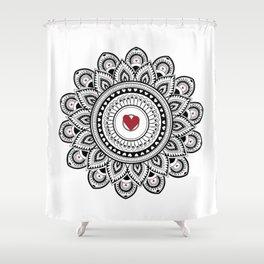 Mandala true love Shower Curtain