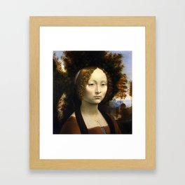 Ginevra de Benci by Leonardo da Vinci Framed Art Print