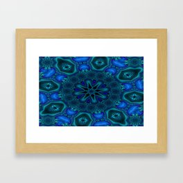 Battling At The Chasm Mandala 3 Framed Art Print