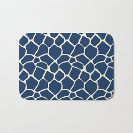 Giraffe Pattern Animal Print (navy) Bath Mat