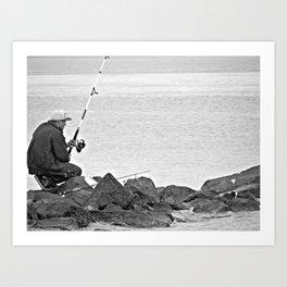 Fishing Alone Art Print