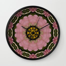 Floral Lei Wall Clock