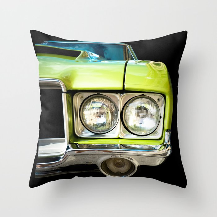 Auto Parts: Green Machine! - Right Side Version Throw Pillow