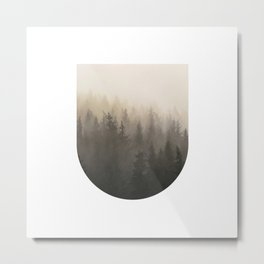 Mountain Foggy Mist Trees Metal Print