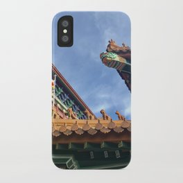 Chinese roof tops iPhone Case