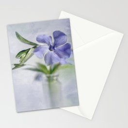 Periwinkle in vial Art #2 Stationery Cards