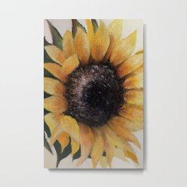 Miniature oilpainting nature flower, sunflower. Art for soul Metal Print