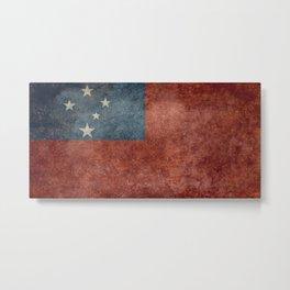 National flag of Samoa - Vintage version Metal Print