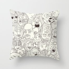 Faces of Math (no color edition)  Throw Pillow