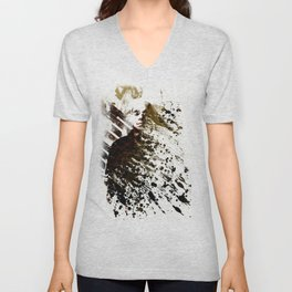 Splatter-Portrait Unisex V-Neck