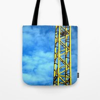 crane Tote Bags featuring Crane by Annabies