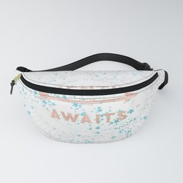 Adventure Awaits Rose Gold Fanny Pack