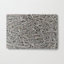 grey rope Metal Print