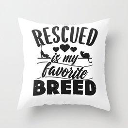 Cat Shelter Throw Pillow