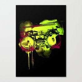 Sound Collage Canvas Print