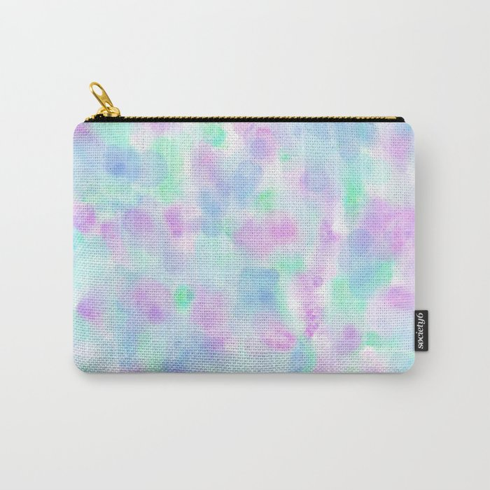 Abstract Purple Floral Watercolor Pattern Carry-All Pouch