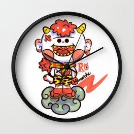 Red Oni Wall Clock
