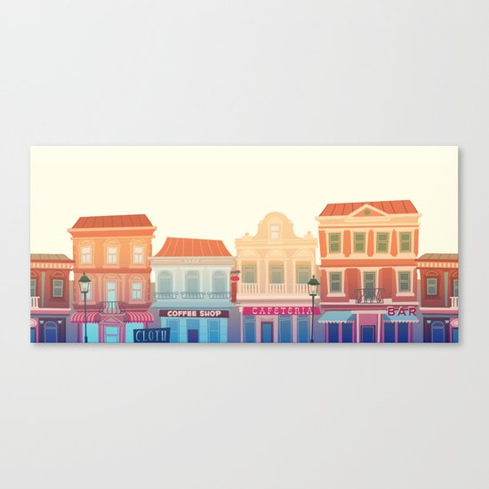 Midday town Canvas Print