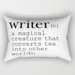 Writer Definition Converts Tea Rectangular Pillow