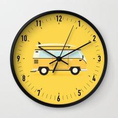 Yellow Kombi Wall Clock