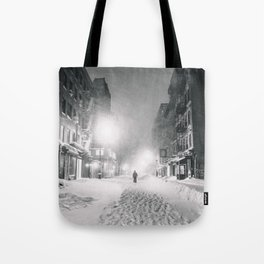 Alone in a Blizzard - New York City Tote Bag