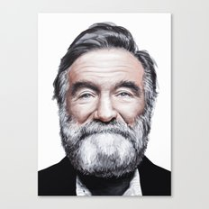 A tribute to Robin Williams Canvas Print