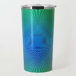 Spirograph of parallel lines. Abstract background of glowing lines. Travel Mug