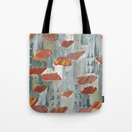 toits rouges Tote Bag