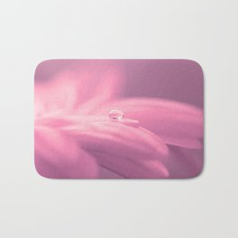 Lonely droplet pink daisy flower  - Floral on #Society6 Bath Mat
