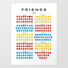Tribute to Friends Art Print